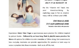 Hey Moms with littles.  I designed a yoga workshop just for you! xo